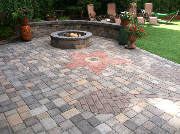 Take a look a some amazing personalized paving stone driveways and patios.