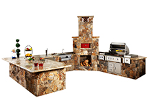 Natural Stone Outdoor Kitchen2