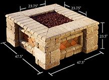 Capri Fire Pit Dimension Square Design