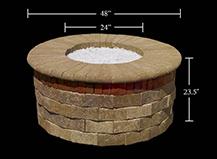 Capri Fire Pit Dimension Round Design
