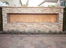Custom Design-Build Outdoor Fireplace
