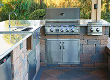 Natural Stone Paver Outdoor Kitchen