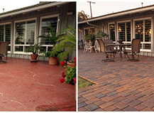 Before After Pavers Patio Deck