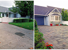 Before After Pavers Concrete To Pavers