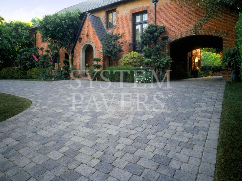 Driveway pavers stone driveway paving with interlocking for Bricks stone design