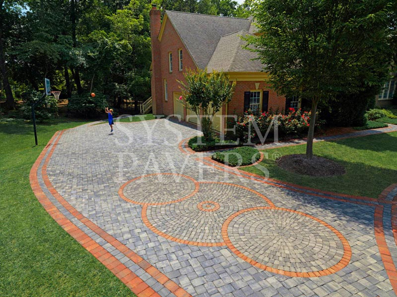 Red Granite Driveway : Driveway pavers stone paving with interlocking