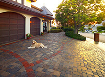 Driveway Paver Design Ideas Red Trim