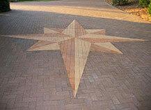 Driveway Paver Star Pattern