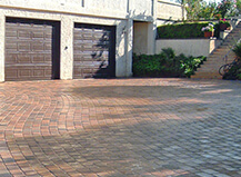 Uneven Driveway Paver Installation