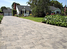 Driveway Mixed Paver And Grass Design