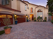 Driveway With Angled Paver Stone Design