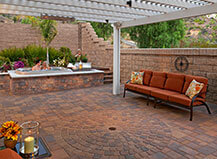 Patio Jacuzzi Paving Stone Design Ideas