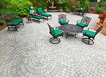 Patio Paving Stones Circualr Pattern