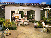 Patio Paver Stones With Cabana