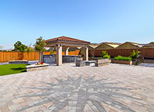 Paver Patio With Nautical Design