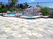 Pavers Pool Water Features Abeyta