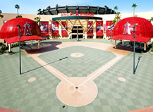 Angels Stadium Walkway Installation System Pavers