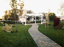 Long Walkway Paving Stones