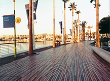 Commercial Long Thin Paver Walkway Design Long Beach Ca