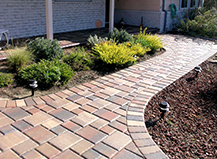 Simple Red Paver Walkway Design