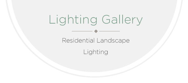 see images of residential landscape lighting in our gallery