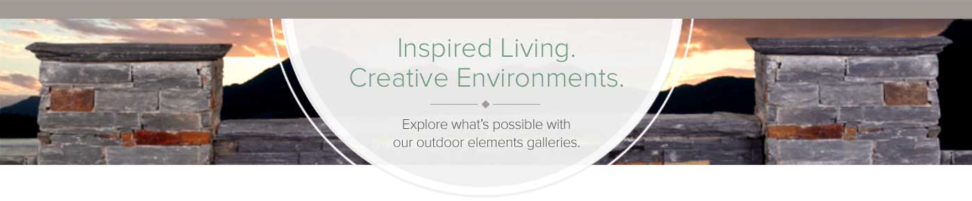 Inspired Living Creative Environments Explore what is possible with our outdoor elements galleries