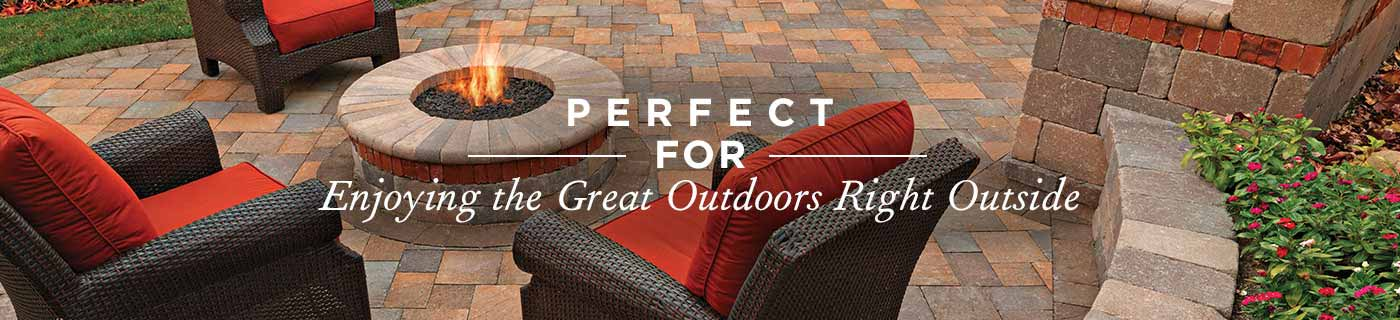 Outdoor Firepit from System Pavers
