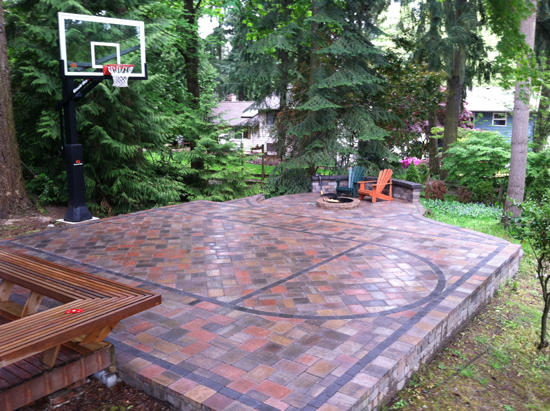paving stone basketball court