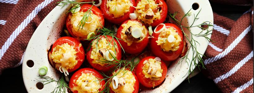 Go Global with this Spring Inspired Grilled Stuffed Tomato Recipe