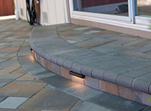 Built-In Lighting On Paving Stone Walkway