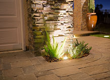 Driveway Lighting System With Walkway Lights Design