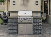 Contemporary Gray Stone Bbq Island And Grill