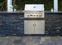 Natural Stone And Granite Covered Bbq Island