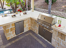 Natural Stone Covered Bbq Island