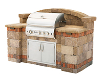 Front Squares Backyard Bbq Island Design