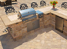 L Shaped Open Air Bbq Island