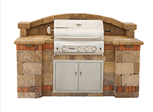 Natural Stone Front Square Backyard Bbq Island