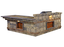 Natural Stone Backyard Bar-B-Q Islands Island