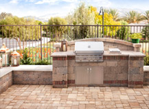 Built-In Bbq And Paving Stone Patio