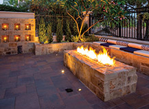 Natural Stone Rectangle Firepit