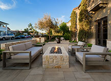 Natural Stone Fire Pit With Seating Area