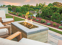 Rectangle Firepit Patio Design