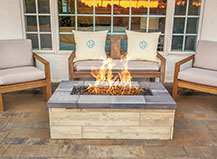 Rectangle Paver Firepit With Seating