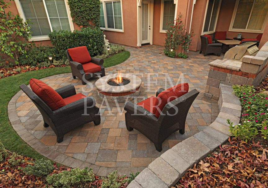 ... Backyard Pavers Firepit Design Ideas ...