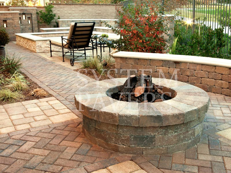 Outdoor Paver Firepit Beautiful Built In Fire Pit Design ...