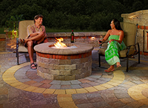 Circular Paver Firepit With Seating