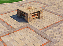 Square Capri Firepit With S Pattern Pavers