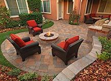 Backyard Pavers Firepit Design Ideas