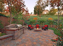 Circular Backyard Paver Firepit Design