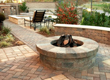 Built In Circular Firepit